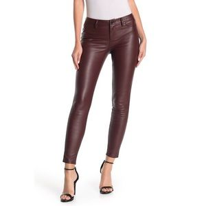 Blank NYC Faux Leather Skinny Jeans Oxblood Color